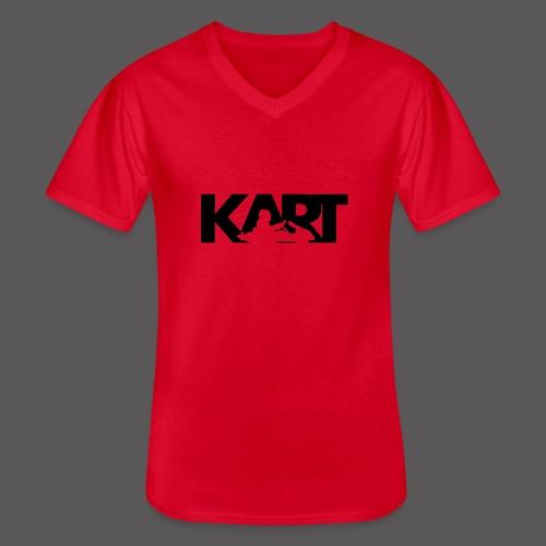 KART - Klassisches Männer-T-Shirt mit V-Ausschnitt