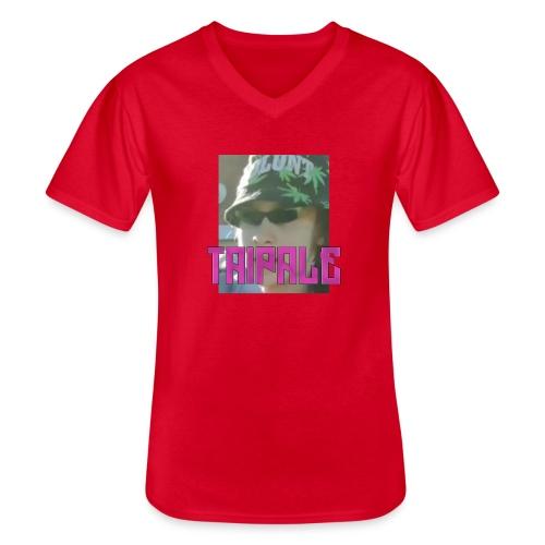 Rare Taipale - Klassinen miesten t-paita v-pääntiellä