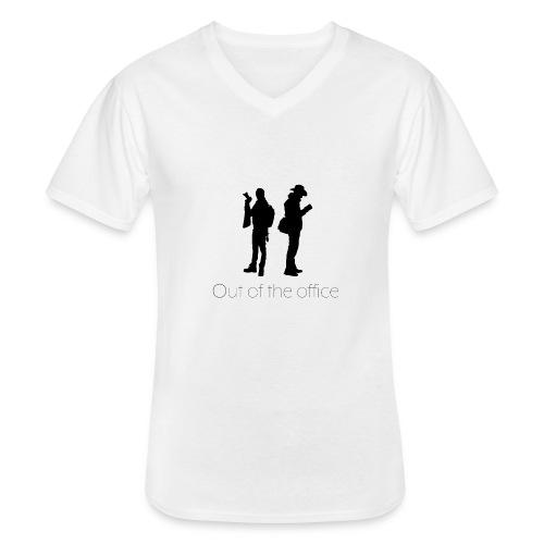 Nous black - T-shirt classique col V Homme
