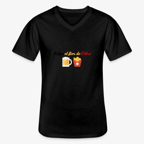 Belge et fier de l'être - T-shirt classique col V Homme