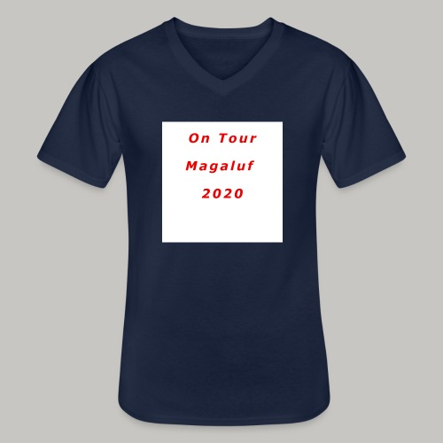 On Tour In Magaluf, 2020 - Printed T Shirt - Men's V-Neck T-Shirt