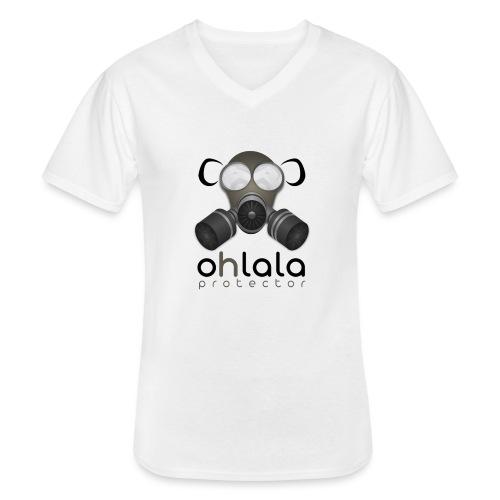 OHLALA PROTECTOR BLK - T-shirt classique col V Homme