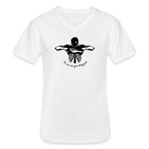 DM stripped - Klassisches Männer-T-Shirt mit V-Ausschnitt