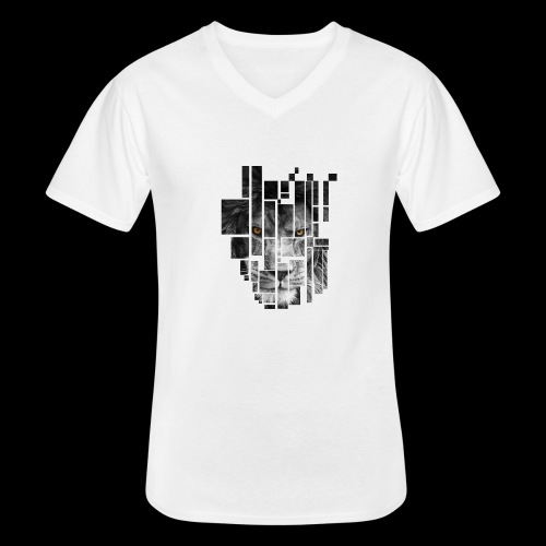 Pixel Lion Tattoo Inspire - Men's V-Neck T-Shirt