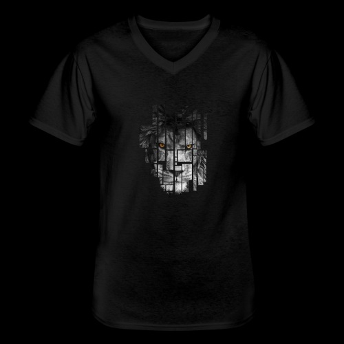 Pixel Lion Tattoo Inspire - Men's V-Neck T-Shirt