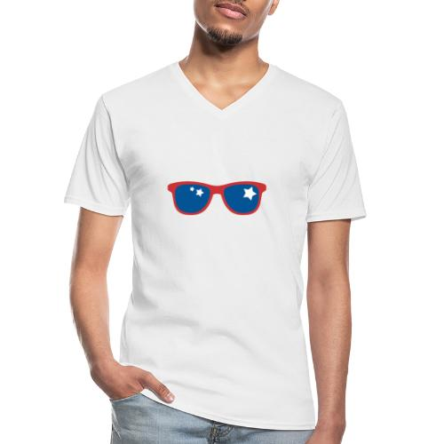 POP ART - Stars and glass - T-shirt classique col V Homme