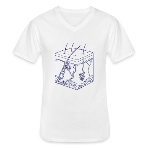 Huid - Klassiek mannen T-shirt met V-hals