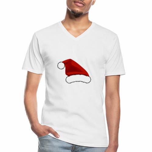 Joulutontun lakki - tuoteperhe - Klassinen miesten t-paita v-pääntiellä