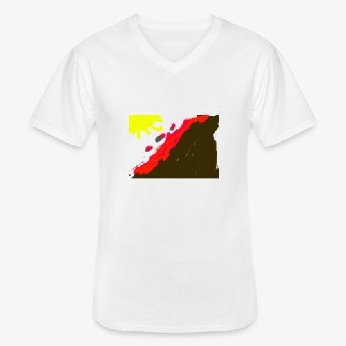 flowers - Klassisk herre T-shirt med V-udskæring