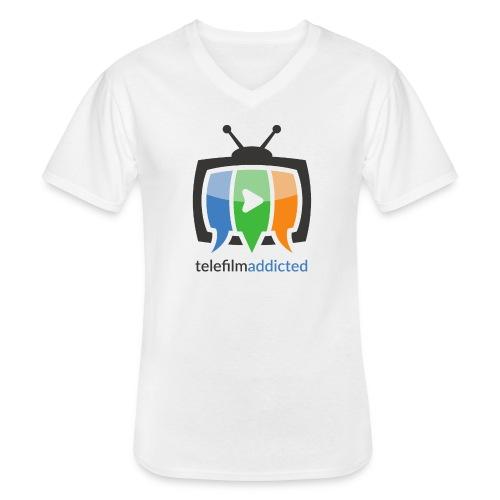 Telefilm Addicted Logo - Maglietta da uomo classica con scollo a V