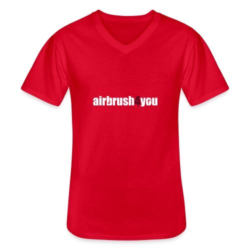 Airbrush - Klassisches Männer-T-Shirt mit V-Ausschnitt