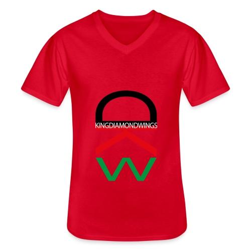 King Diamond Wings Colored Logo - Men's V-Neck T-Shirt