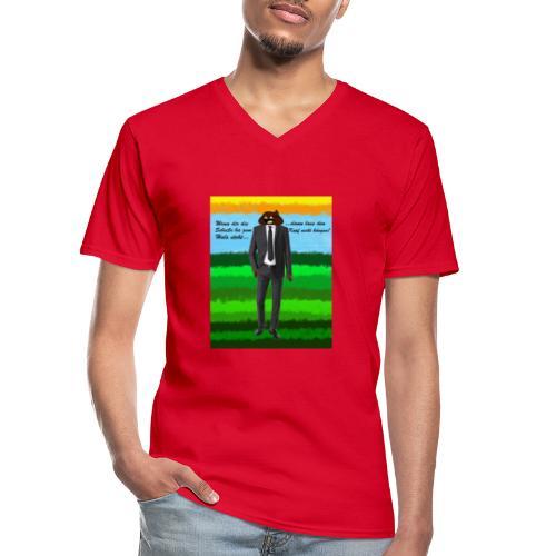 scheiß design - Klassisches Männer-T-Shirt mit V-Ausschnitt