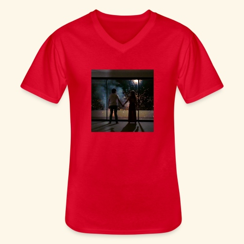 Mum look at me, I'm really okay. - T-shirt classique col V Homme