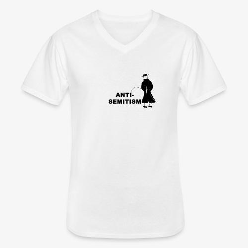 Pissing Man against anti-semitism - Klassisches Männer-T-Shirt mit V-Ausschnitt