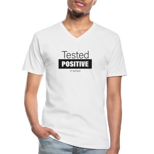 Tested positive - Klassisches Männer-T-Shirt mit V-Ausschnitt