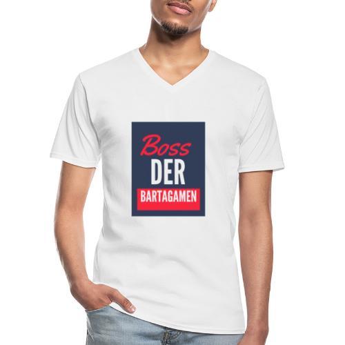 Boss der Bartagamen LOGO - Klassisches Männer-T-Shirt mit V-Ausschnitt