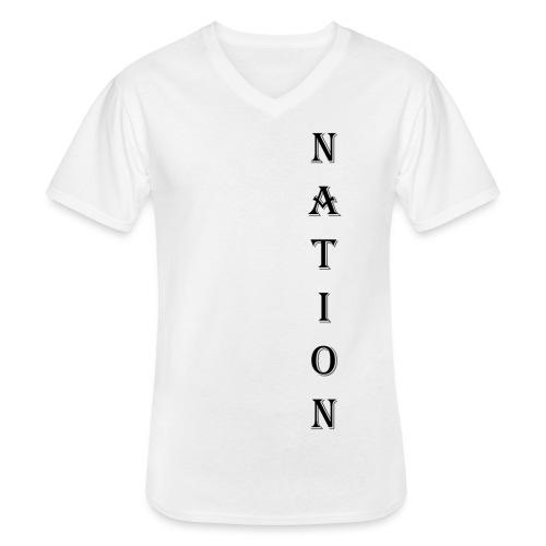 Nation - Klassiek mannen T-shirt met V-hals