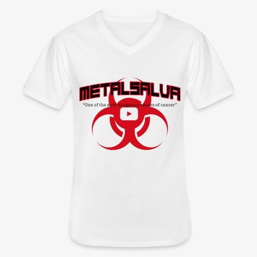 METALSALVA Cancer #1 - Maglietta da uomo classica con scollo a V