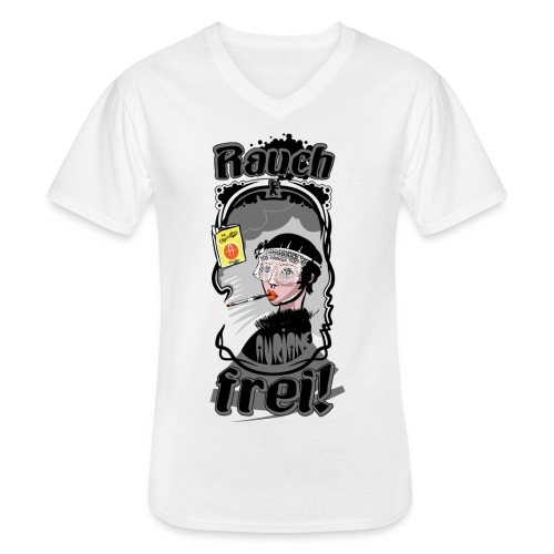 Rauch Frei! - Klassisches Männer-T-Shirt mit V-Ausschnitt
