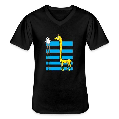 La girafe et l'échassier - T-shirt classique col V Homme