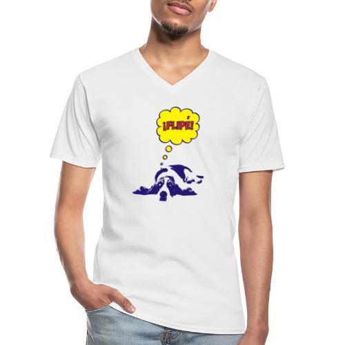 fiple - Camiseta clásica con cuello de pico hombre