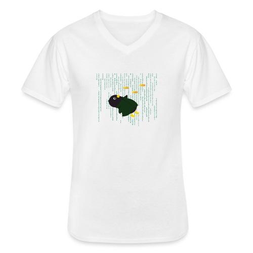 Pingouin Bullet Time - T-shirt classique col V Homme