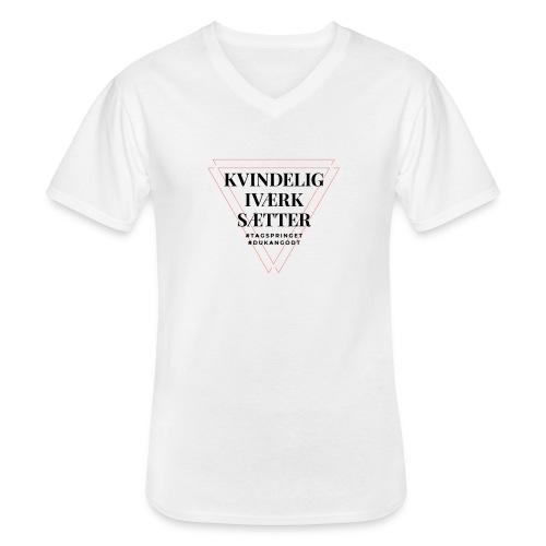 KvindeligIvaerkSaetter - Klassisk herre T-shirt med V-udskæring