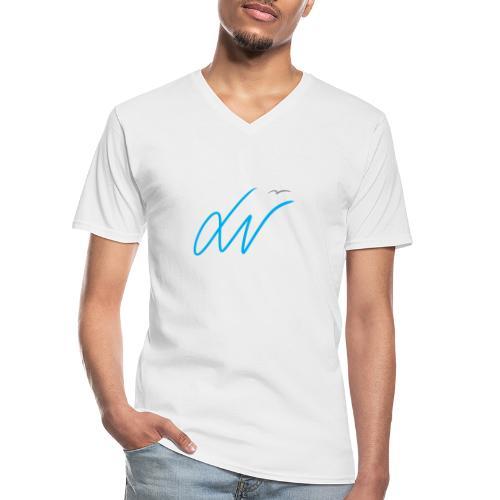 LavoroMeglio - Maglietta da uomo classica con scollo a V