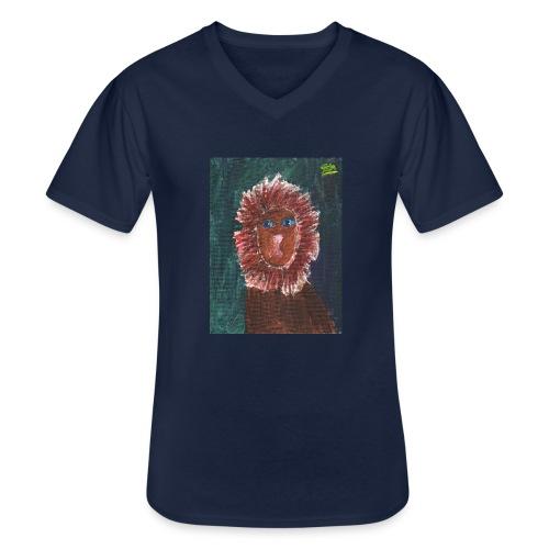 Lion T-Shirt By Isla - Men's V-Neck T-Shirt