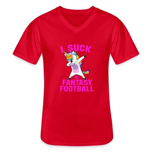 FANTASY - Klassisk T-shirt med V-ringning herr
