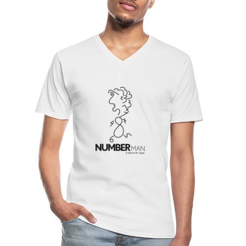 numberman - Klassisches Männer-T-Shirt mit V-Ausschnitt