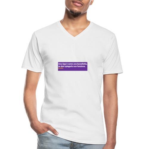 barzelletta - Maglietta da uomo classica con scollo a V
