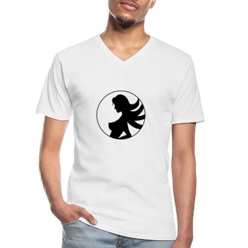 ChicaMax® - Camiseta clásica con cuello de pico hombre
