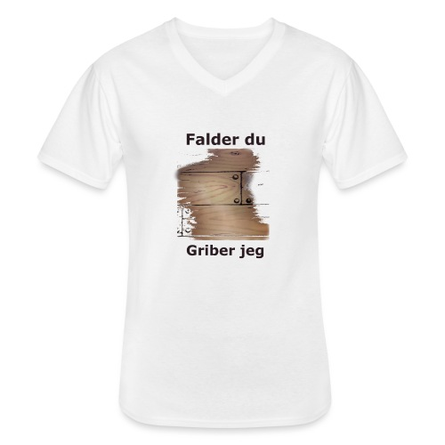 Gulvet Griber - Klassisk herre T-shirt med V-udskæring