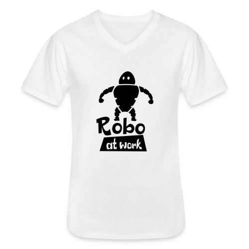 robot at work - Klassisches Männer-T-Shirt mit V-Ausschnitt