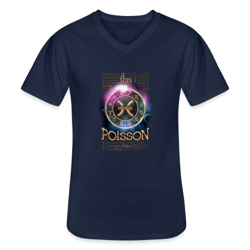 POISSONS - T-shirt classique col V Homme