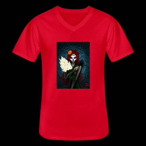 Death and lillies - Men's V-Neck T-Shirt