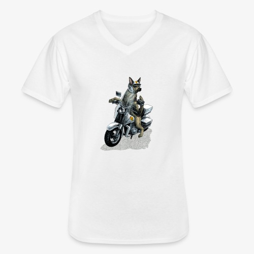 Police Dog - Men's V-Neck T-Shirt