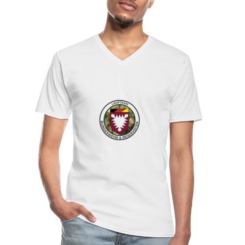 Logo des Laufteams - Klassisches Männer-T-Shirt mit V-Ausschnitt