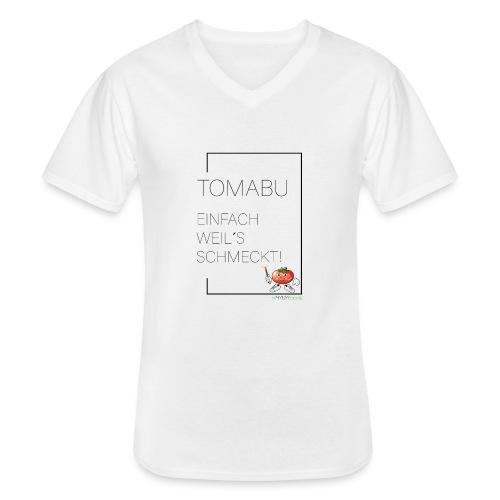 TomaBu Einfach weil´s schmeckt! - Klassisches Männer-T-Shirt mit V-Ausschnitt