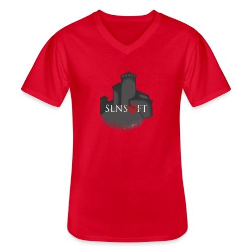 slnsoft - Klassinen miesten t-paita v-pääntiellä