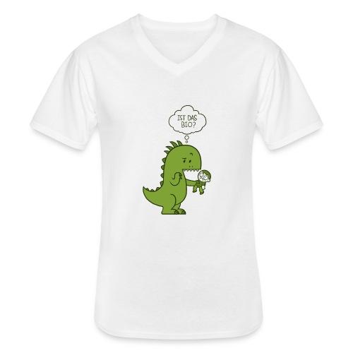 Bio-Dinosaurier - Klassisches Männer-T-Shirt mit V-Ausschnitt