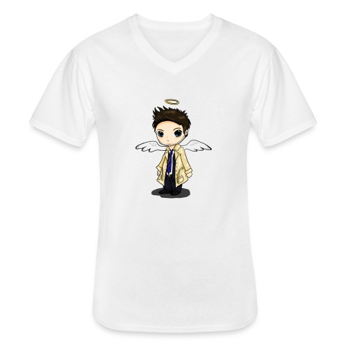 Team Castiel (dark) - Men's V-Neck T-Shirt