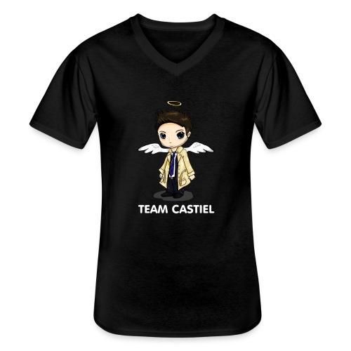 Team Castiel (dark) - Men's V-Neck T-Shirt