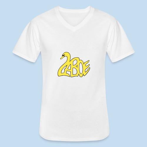 Laboe Schwan gelb - Klassisches Männer-T-Shirt mit V-Ausschnitt