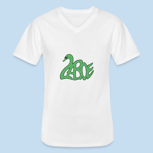Laboe Schwan grün - Klassisches Männer-T-Shirt mit V-Ausschnitt