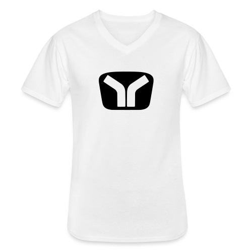 Yugo Logo Black-White Design - Men's V-Neck T-Shirt