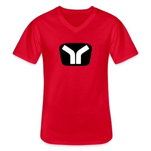 Yugo Logo Black-White Design - Men's V-Neck T-Shirt