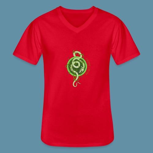 Jormungand logo png - Maglietta da uomo classica con scollo a V